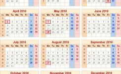 2018 Calendar Uk Bank Holidays Jill Davis Design