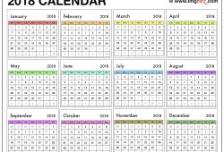2018 Calendar Template Uk Printable