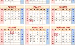 2018 Calendar United States Holidays 2018 Calendars Pinterest