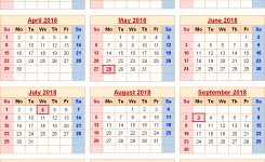 2018 Calendar With Federal Holidays Excelpdfword Templates
