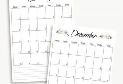 Free A5 Planner Calendar 2018