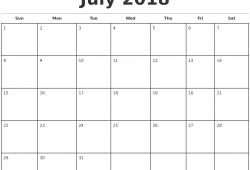 Excel 2018 Monthly Calendar Uk