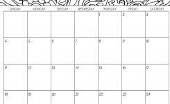 2018 Monthly Coloring Calendars Printables Sarah Titus