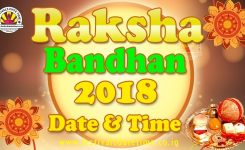 2018 Raksha Bandhan Date Time