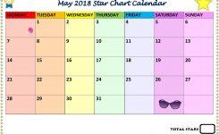 2018 Star Chart Calendar Page 5 Of 12 May Calendar Pinterest