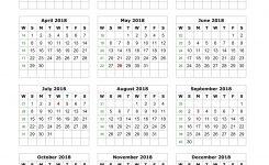 2018 Year Calendar Printable Vertical Flash Design