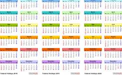 201820192020 Calendar 4 Three Year Printable Excel Calendars