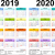 2 Year Calendar 2019 And 2019 Printable