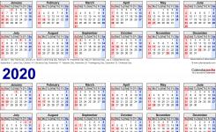 2019 2020 Calendar Free Printable Two Year Pdf Calendars
