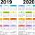 Calendar 2019 2020 Template
