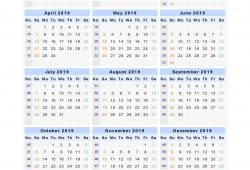 Printable Calendar 2019 With Week Numbers