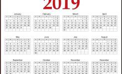 2019 Calendar Printable Word Excel Pdf And Template Printable