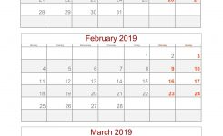 2019 Quarterly Calendar Printable For Free 2019 Calendar