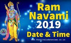 2019 Ram Navami Date Time In India 2019