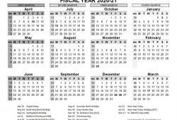 2021 Fiscal Calendar