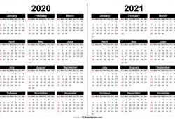 2020 And 2021 Calendar