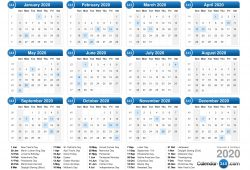 Online Calendar 2020 With Week Numbers