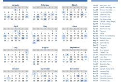 2020 Printable Calendars With Holidays
