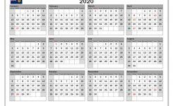 2020 Calendar Western Australia Australia Michel Zbinden En