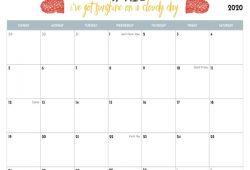 Cute April 2020 Calendar