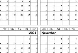 2021 Aug to Oct Printable Calendar