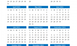 2021 Printable Calendar February to May