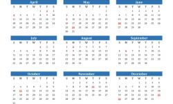 Calendar 2021 Canada Holidays