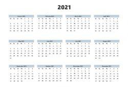 Vertical Calendar Template 2021