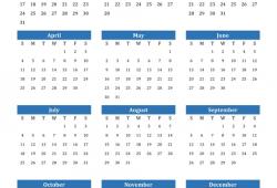 2021 Calendar Editable