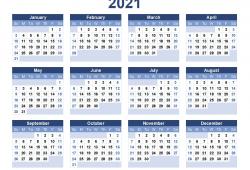 2021 Calendar Large Print