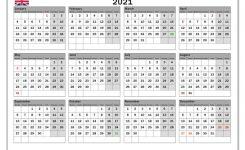 2021 Calendar, Uk – Michel Zbinden En