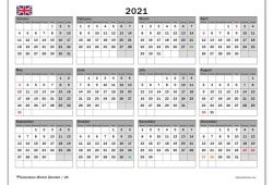 2021 Calendar Uk Bank Holidays