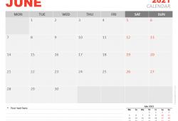 2021 June Calendar png