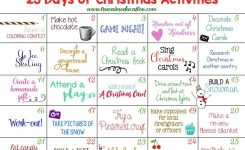25 Days Of Christmas Activities Advent Calendar Arts Crafts For