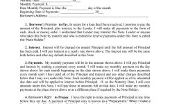 45 Free Promissory Note Templates Forms Word Pdf Template Lab