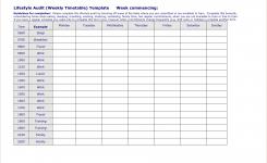 5 Work Week Calendar Template Procedure Template Sample