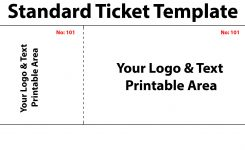 50 50 Raffle Ticket Template Free Canasbergdorfbibco
