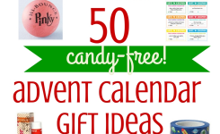 50 Ideas For Candy Free Advent Calendar Gifts Savvy Sassy Moms