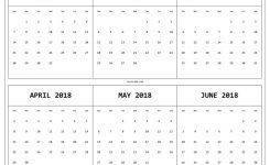 6 Month One Page Printable Calendar 2018 Maxcalendars Pinterest