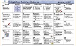 8 Activity Calendar Template Survey Template Words