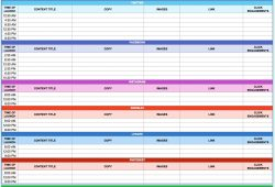 Free 2018 Marketing Calendar Template