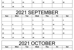August to October 2021 Calendar