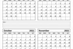 Calendar August September 2021 Excel