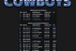 Dallas Cowboys Schedule 2020 2020 Printable