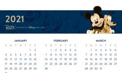 Mickey Mouse Printable Calendar 2021