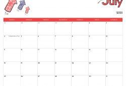Printable Calendar for July 2021