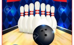 A Blank Bowling Flyer Template Great For Birthday Parties Bowling