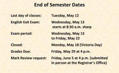 Academic Calendar Champlain College Saint Lambert