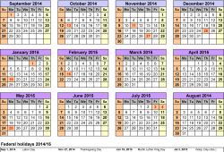 Academic Calendar In Usa Schools