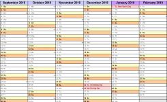 Academic Calendars 20182019 As Free Printable Excel Templates